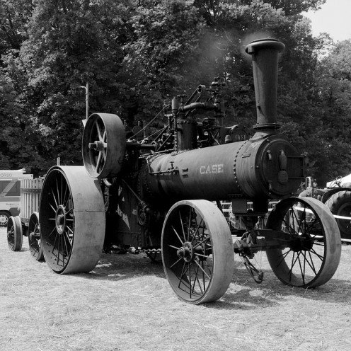 Collectors would pay a hefty amount of cash for an antique tractor such as this
