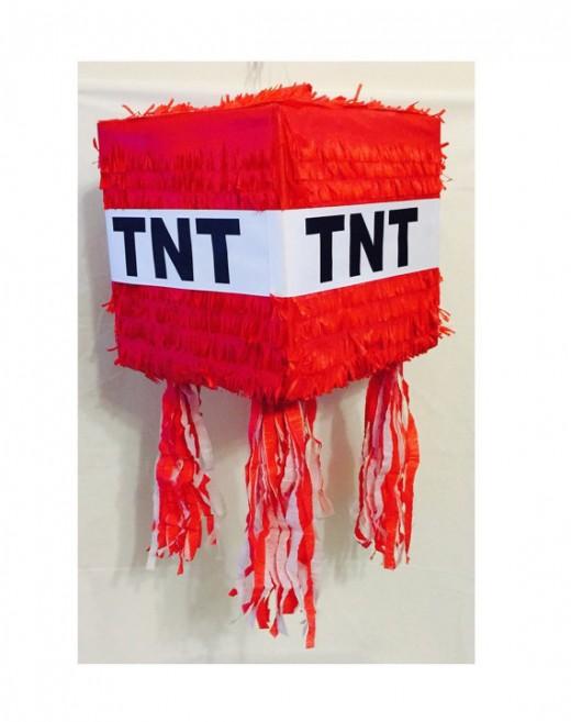 Ready to Ship Minecraft red 'TNT' Pinata $26.99
