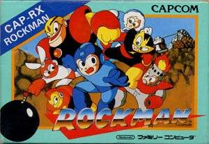 Box art for the Japanese version of Mega Man / Rock Man