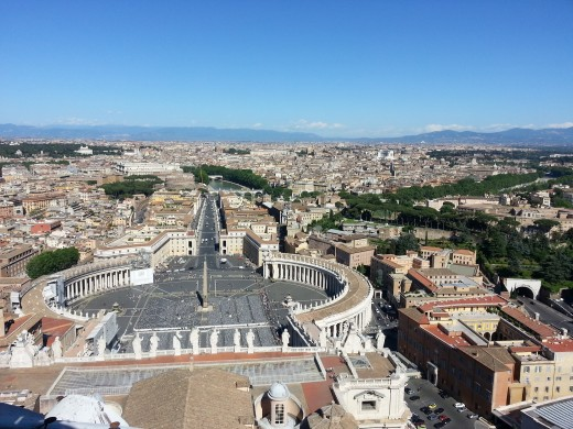 Panoramic view from Vatican