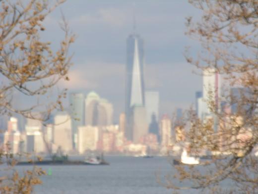 Staten Island view of lower Manhattan.  December 25, 2013.