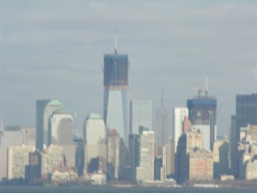 lower Manhattan from the Staten Island Ferry, December 25, 2011.