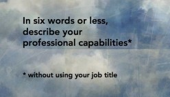 Describe Yourself --How Difficult Or Easy Is That, With Regard To Job Interviews!