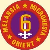 "Divisional insignia of the ""Striking"" Sixth Marine Division."