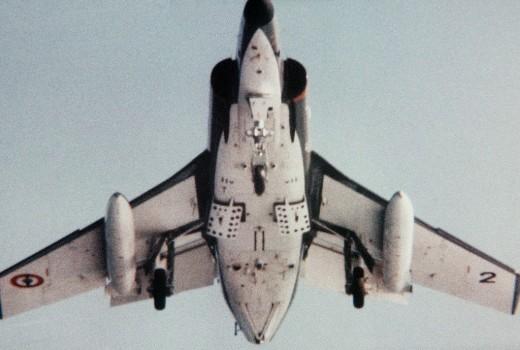 French warplane assists American presence.