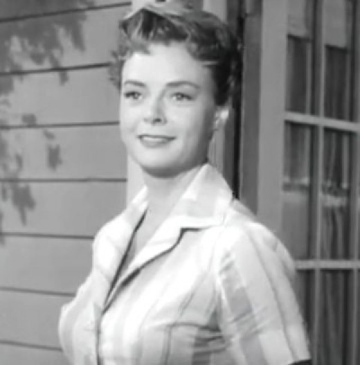 "June Lockhart played ""Ruth Martin"""
