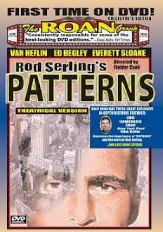 "Rod Serling wrote the script for ""Patterns"" and his career took off. Serling won an Emmy for Dramatic Writing."