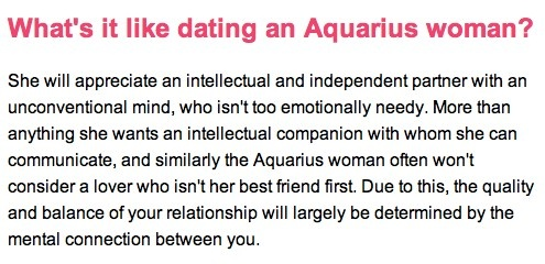 Aquarius dating tips