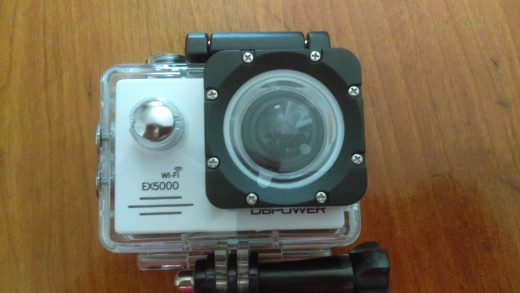 Camera in waterproof case