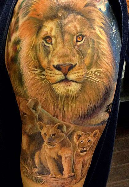 The lion represents the person's aggresiveness