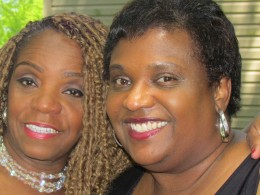 Mother of the bride Paulette and cousin Zenda.