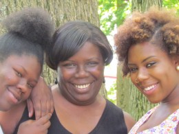 Mother Kay with daughters Dinah and Kasaundra.