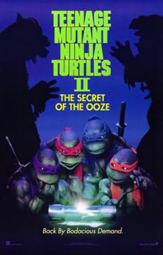 One of the posters for Teenage Mutant Ninja Turtles II: The Secret of the Ooze. Source for one of the weirdest musical numbers ever.