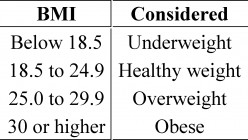 What does BMI (Body Mass Index) mean?