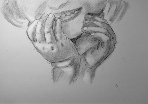 Study of little girl's hands.  #45