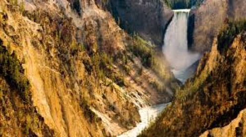Yellowstone National Park goes through Wyoming, Montana and part of Idaho.