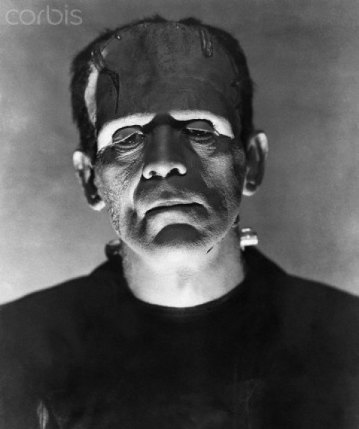 "Hollywood legend, Boris Korloff played the first ""creature,"" built by Dr. Frankenstein"