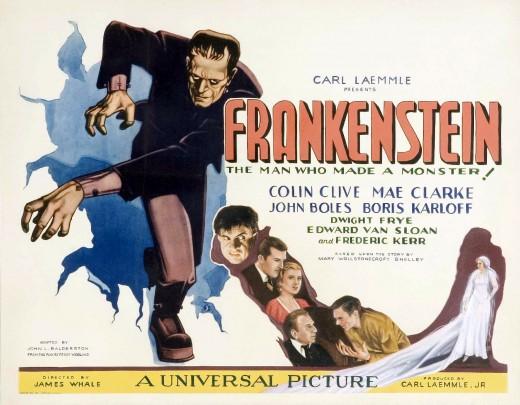 Poster for 1931  classic, Frankenstein.