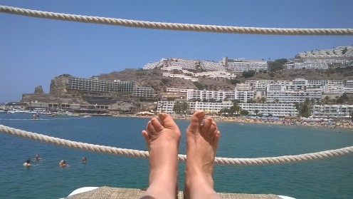 Put your feet up after a stroll along the sands!