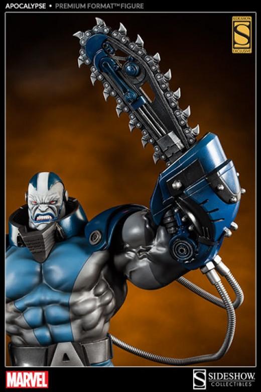 Apocalypse's exclusive chainsaw arm