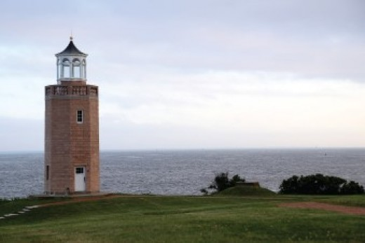 The last lighthouse in the state built as an official navigational aid, it wasn't lighted until over a year after its 1943 completion due to concerns about possible Nazi attack during WWII.