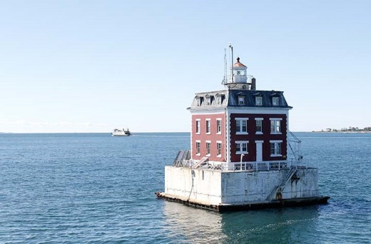 A French Second Empire structure architecturally unique for a lighthouse, the Ledge Light is unusual for another reason - it's reportedly haunted by the ghost of an early keeper.