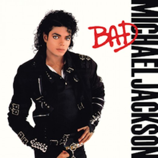 Album cover for Michael Jackson's Bad. May he rest in peace.