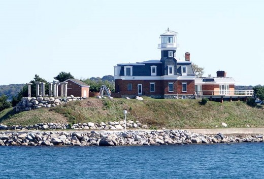 During Prohibition, the keeper of North Dumpling Lighthouse was accused of signaling to liquor smugglers.