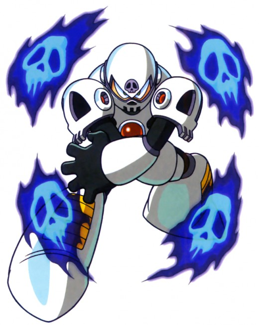 Skull Man uses his energy barrier to protect himself from harm.