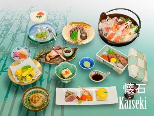 Kaiseki dinner at a ryokan