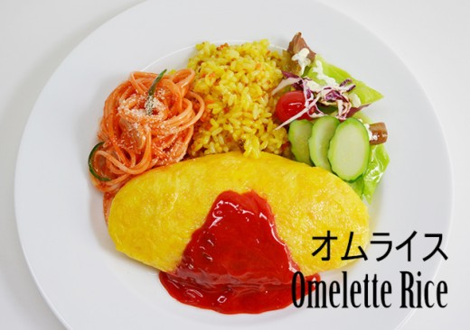 Japanese omelette rice. With generous ketchup!