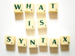 Syntax in combining words to form sentences