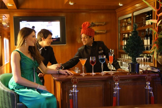 Rajah Club is the lounge bar of the Maharajas' Express