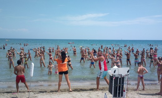 Beach dance in Sunny Isles Miami, Florida.