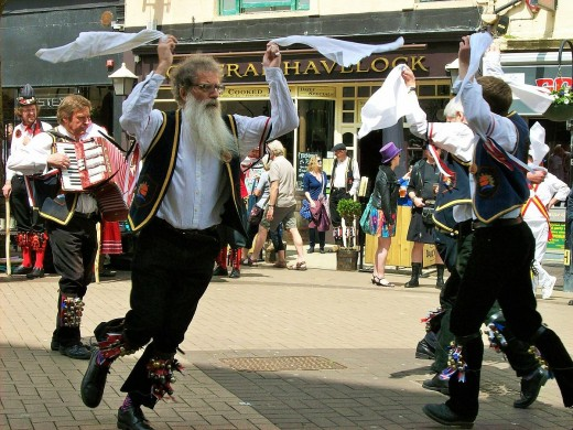 Morris dancing, grab white handkerchiefs and get down to your nearest pub.