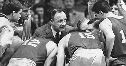 Coach Dale during the 1952 State Championships. Hickory vs. South Bend.