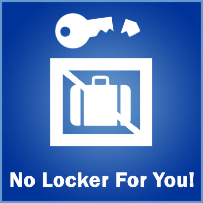 Lockers are prized commodities for many European travellers