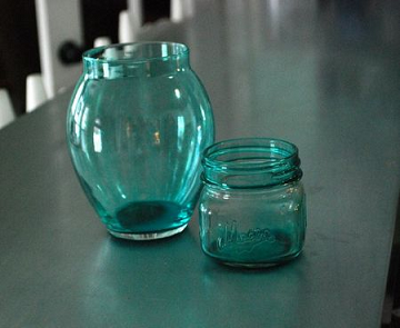 This Site, Lisa Liza Lou Has A Great Tutorial On How To Paint A Shaped Glass  Jar. The Pictured Tutorial Shows How To Tape The Jar Before Painting.