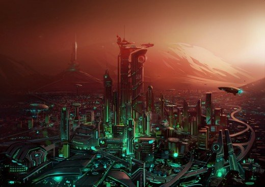 Human Cities on Mars