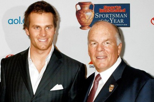 Tom with his dad, Tom Brady, Sr