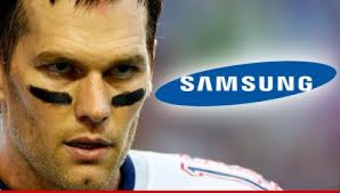 Brady seen with national brand name seen in background