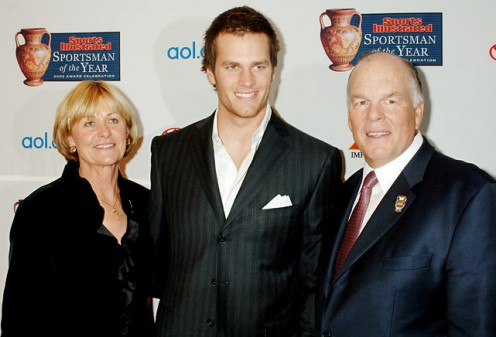 (From left), Brady's mom,  Galynn Patricia, Tom,  and Tom sr