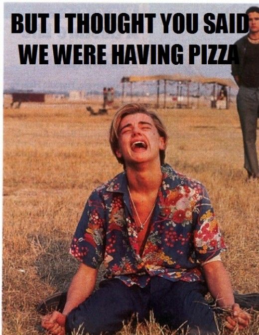 No pizza for you Leo!