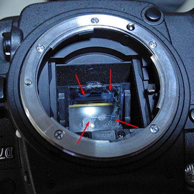 D7000 damaged viewfinder after self-repair fail.