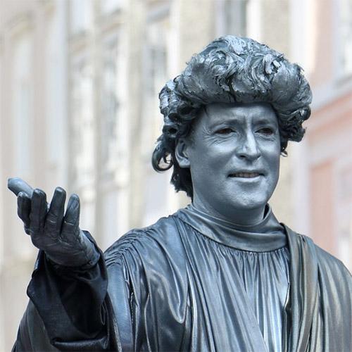 Mozart, one of Austria's most representative musicians.