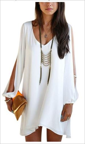 Cool white beach cover up for wearing to the beach or after a long day of sea and sun.