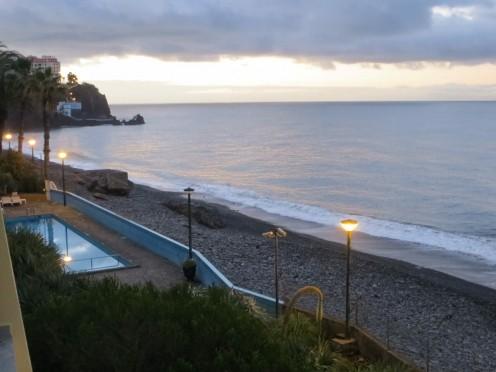 Beach in  Madeira, Atlantic Ocean