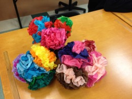 """Decorations made by my students for """"Day of the Dead,"""" a Latin-American holiday that honors deceased loved ones."""