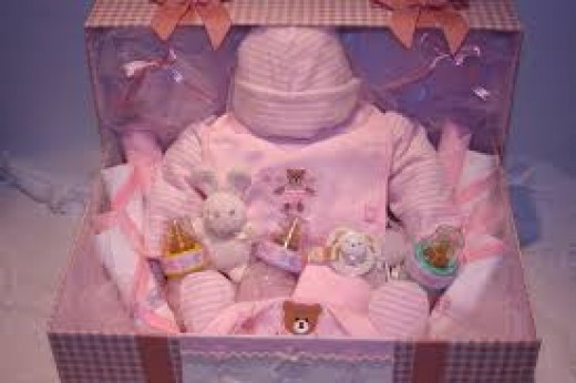 Beautiful baby girl gift basket