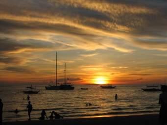 Sunrise at Tambisaan Beach
